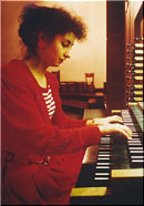PILAR CABRERA  visiting the Albiez-Organ in Frankfurt, Germany.